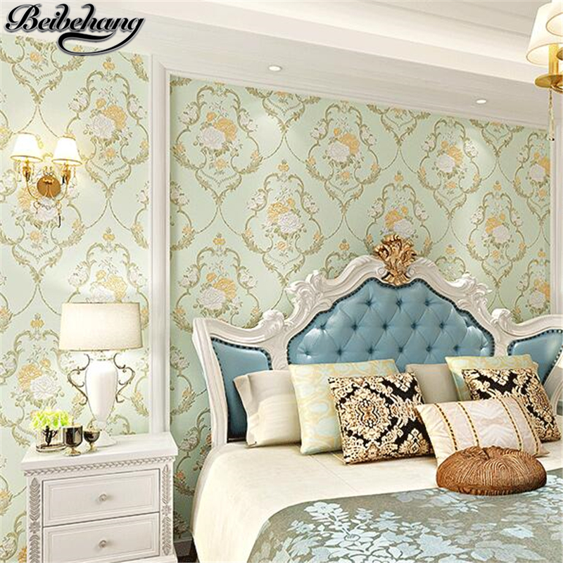 beibehang Wallpapers Nonwovens Continental Pastoral Wallpapers Living Room Bedroom TV Background Wall paper papel de parede<br>