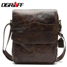 OGRAFF Casual Bag Men Small Shoulder Bags Handbags Genuine Leather Male Luxury Brand 2017 - Official Store store