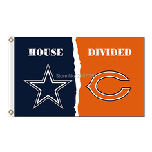 Dallas Cowboys Flag Vs Chicago Bears Flag World Series 2016 Footbal Banner 3ft X 5ft Jersey Premium Team Flags(China)