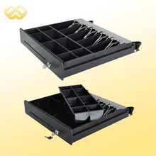 HC-101P-4 Electronic Metal Cheap Mechanism Locking Cash Drawer With 4 Bill Trays And 8 Coin Trays