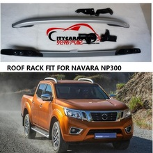 CITYCARAUTO  Decorative Roof Rails FIT For NISSAN NAVARA NP300 Accessories Silver Roof Rails Rack Carrier Bars 2016-2017