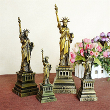 American Statue Of Liberty Model Metal Architectural Bronze Crafts Figure Shelf Vintage Home Decor Gift Miniatures 4 Size