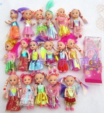 Free Shipping 10pcs Hot-Selling play house Girls Birthday Gift Caual Accessories (doll+clothes) For 11CM Barbie toy Doll Kelly