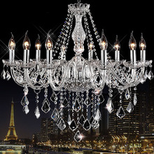 AC110V/220V Noble Luxurious Export K9 Clear Crystal Chandelier 6/8/10/12/15/18 Arms Export Class A K9 Crystal Chandeliers