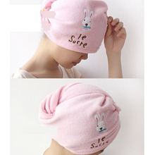 Home cartoon rabbit super absorbent dry hair hat magic dry hair towel  free shipping New store red popularity