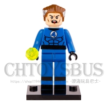 SingleSale Mr. Fantastic Four Reed Richards with Long Legs minifig Super Heroes Assemble Building Blocks Kids Toy Gifts