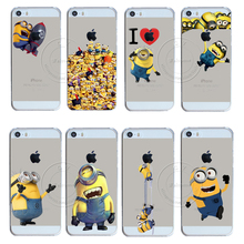 New Fashion Super Hot Despicable Me Yellow Minion Design Case Cover For Apple iPhone 5 5S SE