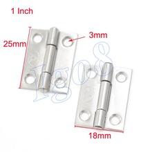 "20PCS Cabinet  Door Hinges 1"" Stainless Steel Butt Hinge"