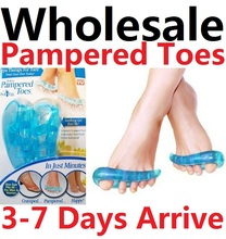 24pairs Wholesale New Toe Separators Insoles Gel Foot Finger Protective Feet Protector Pedicure Tools Health Care As Seen On TV