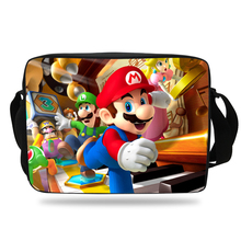 Cool Cartoon School Bag For Kids Super Mario Shoulder Messenger Bag For Children Girls Boys Shoulder Bags For Teenagers Messenge