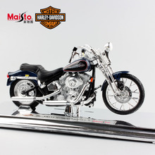 1:18 Scale Maisto Children Harley 2001 FXSTS Springer Softail Diecast metal model motorcycle Racing cars motorbike toys for kids
