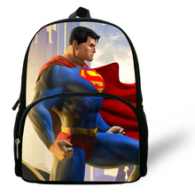 12-inch Mochilas Infantil Kids School Backpack Superman Boys Bag School Kindergarten Cartoon Bags Superman Print(China)