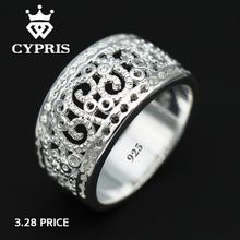 3.28 SALE 2017 Hot Wholesale Price silver Ring solid plant sterling Hollow gift jewellery unique style unisex women 925