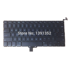 5PCS/Lot A1278 US Keyboard For Apple Macbook Pro 13'' A1278 US Keyboard Replacement 2008(China)