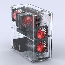 Micro/Atx Acrylic Towers Computer-Cases Desktops Vertical All-Transparent Plexiglass