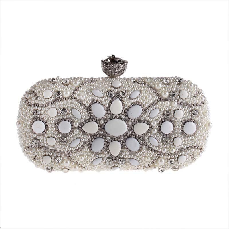 Women Fashion Beads Crystal Evening Bag Clutch Bags Clutches Lady Wedding Purse Rhinestones Wedding Evening Handbags <br>