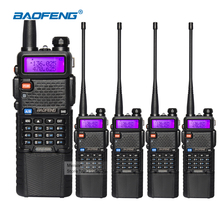 4pcs Walkie Talkie Baofeng UV-5R 3800mAh Long Battery Dual Band 136-174mhz/400-520mhz FM Radio Communicator Handheld Transceiver(China)