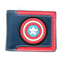 "Captain America wallet Steve Rogers James Buchanan Barnes ""Bucky"" Young students wallet purse animated cartoon wallet DFT-1182(China)"