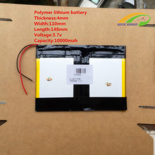 Original Li-ion Battery 3.7v 8000mAH(Approx) for Sanei N10 Quad Core, AMPE A10 Quad Core,Dual Core 3G Tablet PC 40*110*148mm