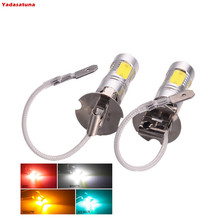 2x Constant Current High quality H3 LED 7.5W PK22S Car fog light, daytime running light Headlight DC12V Red Yellow White Iceblue