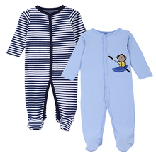 2016 New Brand Spring Summer Baby Rompers Pajamas Boys Girl Clothes Cute Monkey Newborn Jumpsuits Infant Clothing Sleepwear(China)