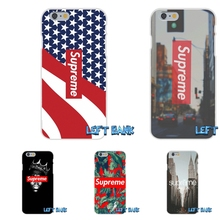 Popular Brand Logo Suprem Soft Silicone TPU Transparent Cover Case For iPhone 4 4S 5 5S 5C SE 6 6S 7 Plus