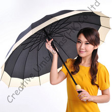 Auto open,16 umbrellas' ribs,pongee fabric,big size,drop shipping allowed,straight umbrellas,14mm strong shaft and fluted ribs
