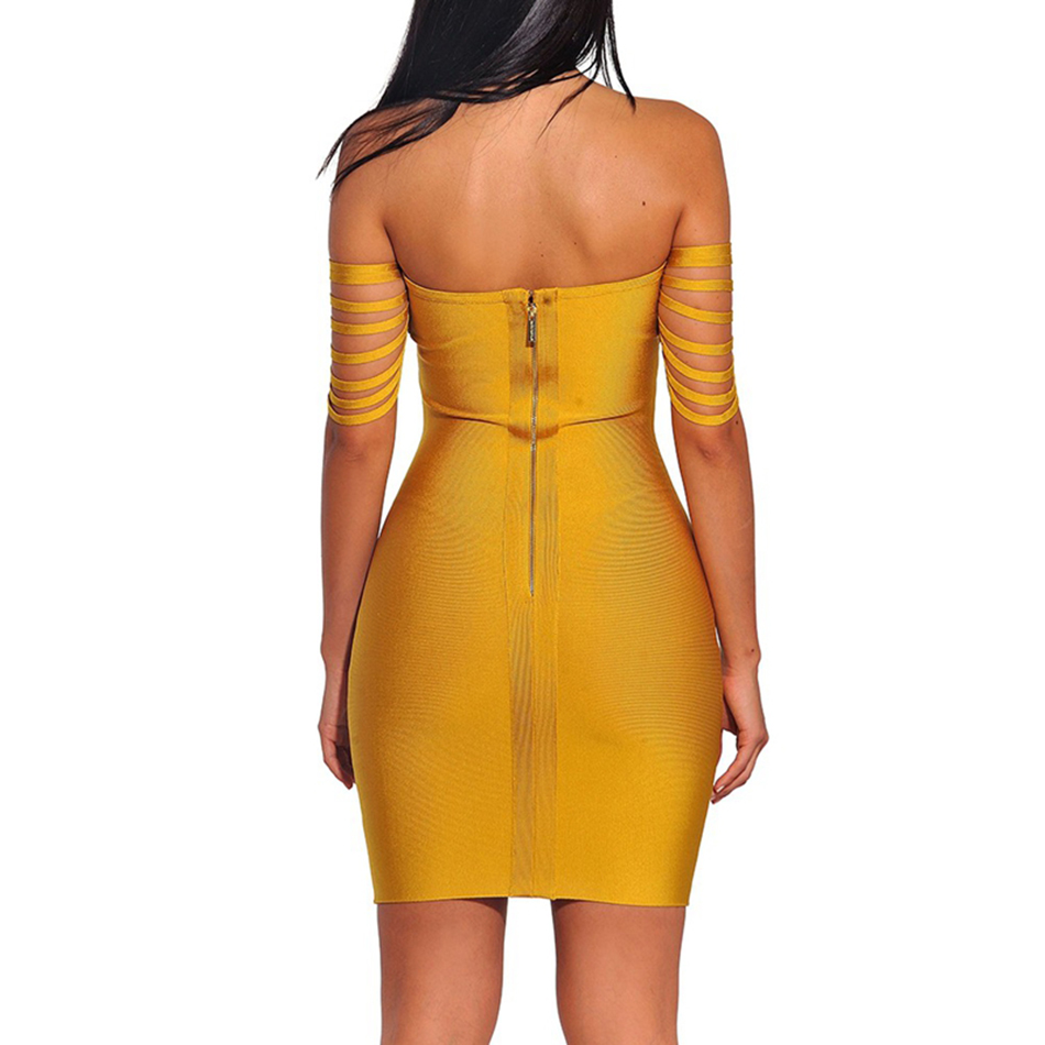 Ocstrade-Vestido-Rayon-Bandage-Dresses-2017-New-Arrivals-Summer-High-Quality-Yellow-Fringe-Sexy-Off-Shoulder (2)