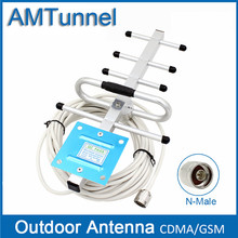 GSM Outdoor Antenna 8dBi Yagi Antenna GSM Booster Antenna CDMA850Mhz External Antenna with10m Cable and N Male for repeater(China)