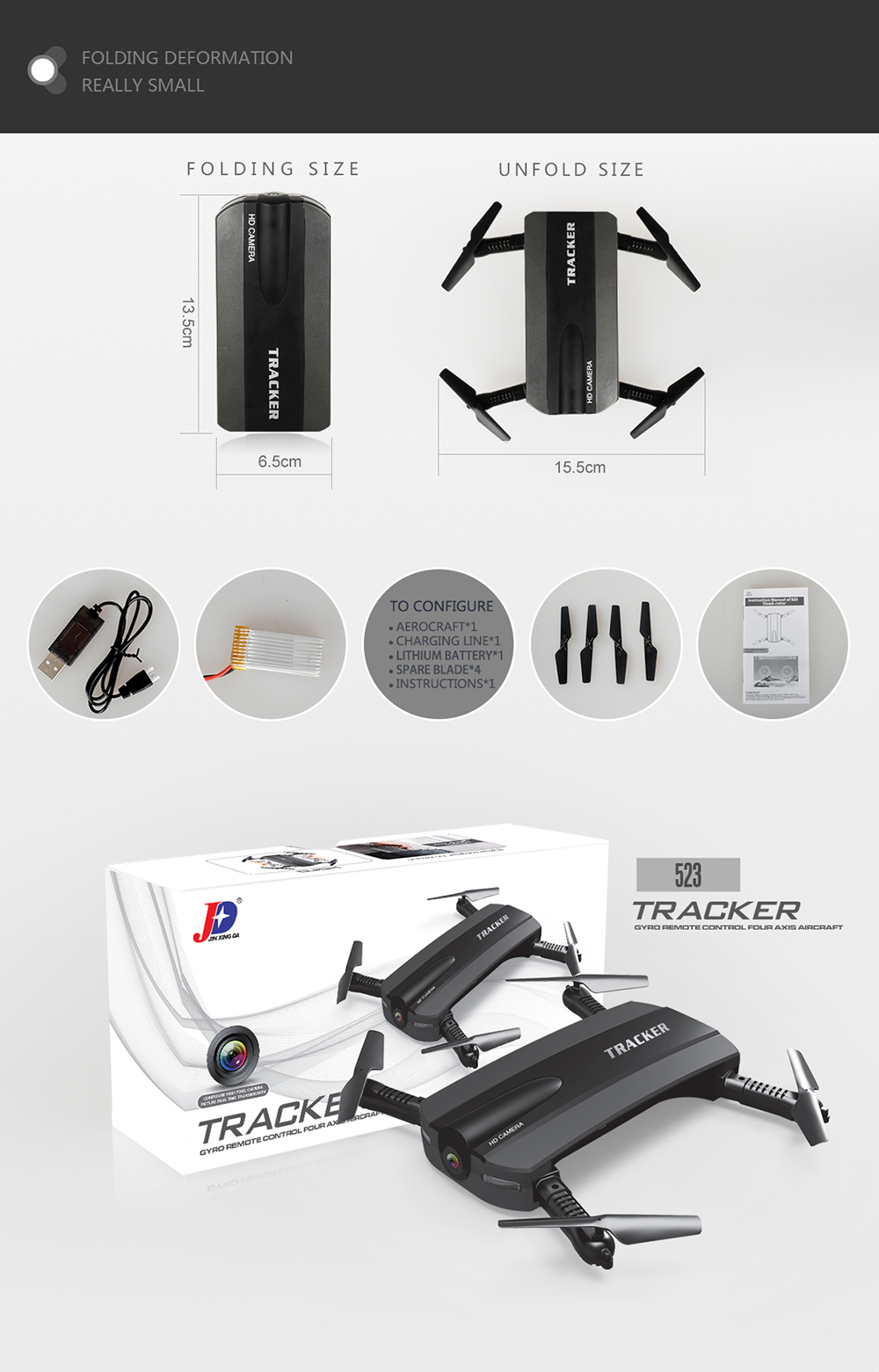9 JXD 523 JXD523 Mini Foldable drone