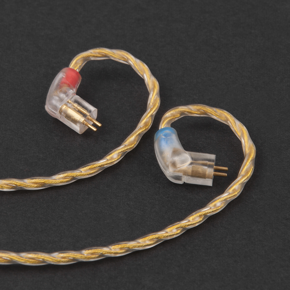 AK Newest 4 Core Upgraded 2pin Gold Cable 2.5/3.5mm Balanced Earphone Cable For KZ ZS3 ZS5 ZS6 ES3 ZST ED12 Earphones
