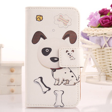 AIYINGE Book Design Cell Phone Holster Magnet Wallet Cover Cartoon PU Leather Pouch For Logicom L-ement 505 5''(China)