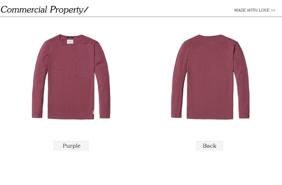 SIMWOOD 2018 Automne À Manches Longues T-shirt Hommes 100% Pur Coton Slim Fit Drôle de Mode De Poche Tops Haute Qualité TC017004 22