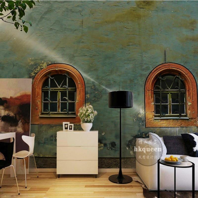 European Retro Color Wall Screen 3D stereo living room restaurant office decoration mural custom lobby studio wallpaper<br><br>Aliexpress