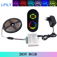 IPILY 5m Strip RGB Led Strip light 2835 RGB LED Tape non waterproof+DC 12V Power Adapter RGB led ribbon for decoration 10/15/20m