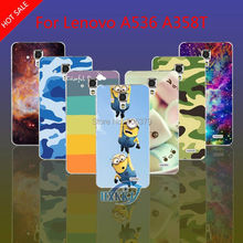 For Lenovo A536 A358T Case Girl Leopard Zebra Skull Cat Fish Lotus Flower Rainbow Despicable Me Hard Back Cell Phone Case