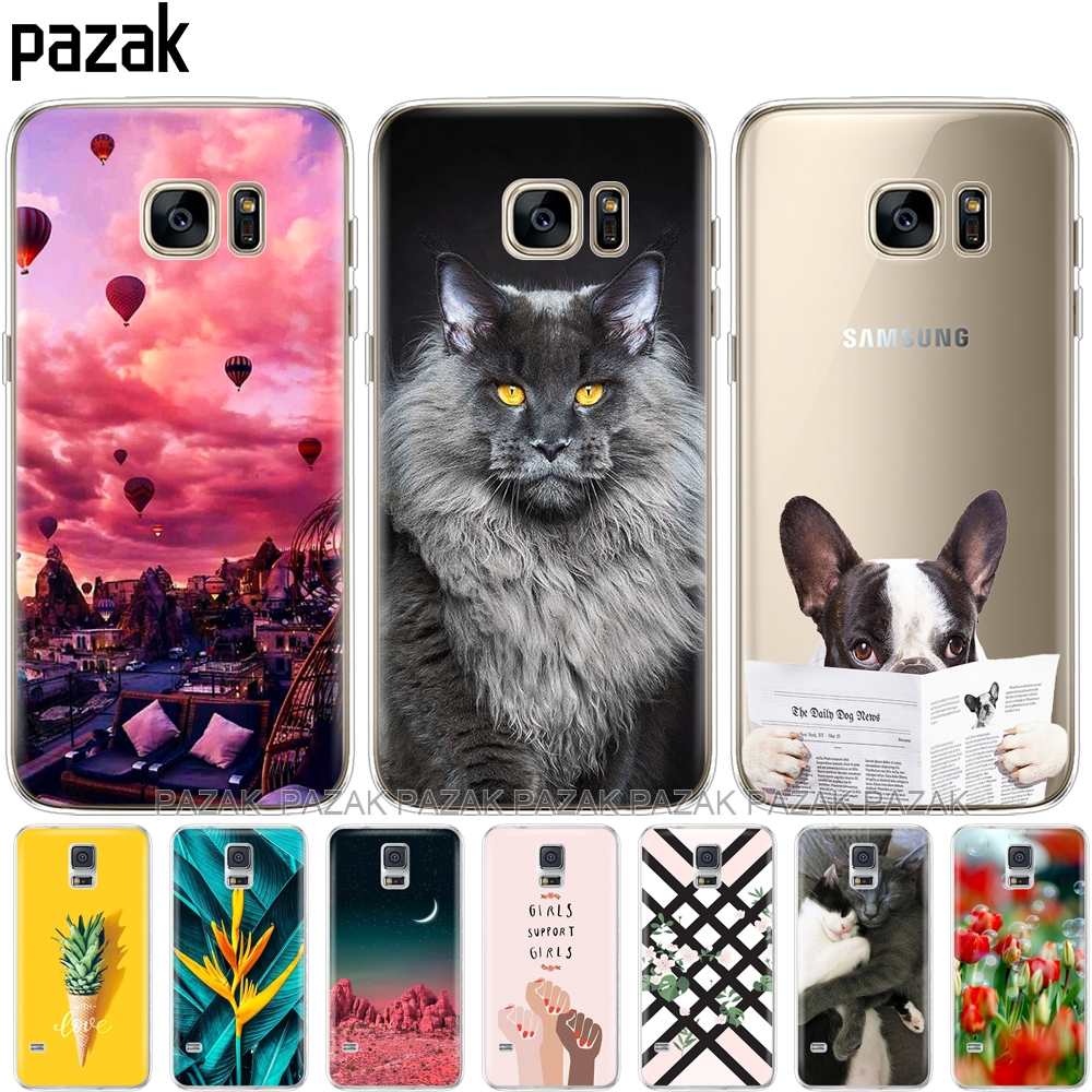 15b34ee12 soft Silicone case Samsung Galaxy S7 egde Cover S5 S6 edge Cases G920F ...