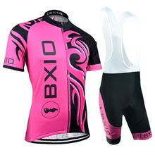 EU Brand BXIO Women Cycling Jerseys Design MTB Bicycle Clothing Breathable 5D Gel Pad Pro Team Clothes Maillot Ciclismo Ropa 045