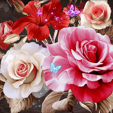 ZOYA DIY 5D Diamond Embroidery flowers rose Diamond Painting Cross Stitch round Rhinestones full diamonds Mosaic puzzle 2335(China)