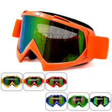 MG-001A-OR Orange Flexible Glasses Reflective Lens Adult Motorcycle goggles Motocross Bike Cross Country