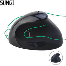2.4 Ghz Wireless Vertical Mouse Healthy Ergonomic 6 Buttons DPI Switch Optical Mice With Built In Battery for Desktop Laptop PC