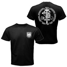 Mens T-shirt GSG 9 Police German Counter Terrorism Special Operations Unit Tee Shirt Short Sleeve Heavy Cotton T shirt tee top