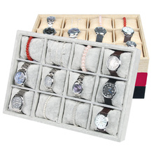 12 Small Pillow high Quality Velvet Watch display tray Bracelet Holder Jewelry Pallet Bracelet Box Storage Props bangle case