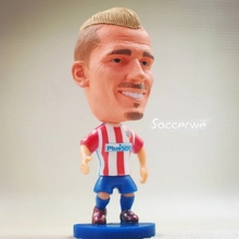 Soccer figurine football stars Griezman 2016-2017 Movable joints resin model toy action figure dolls collectible boyfriend gift