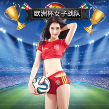 2016 cheerleaders female sexy football baby performance costumes Spanish cheerleading lace club performances La Liga Female fans