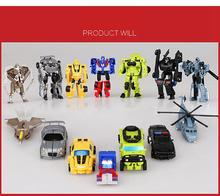 Hot Sale Mini Deformable Robot Figures Classic Transformation Plastic Robot Cars Action Figures Kids Gifts Toys For Children