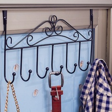 Europe type Hook wrought iron door Non-trace nail free hanger hook