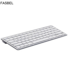 Russia Bluetooth Wireless Keyboard Spanish French Letter Noiseless Gaming Keyboard For Computer Ipad Laptops(China)