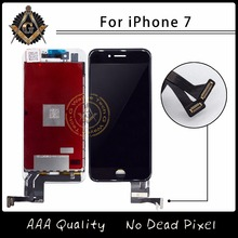 5PCS/LOT Grade AAA Quality LCD No Spots For iPhone 7 7G Sreen Touch Digitizer Assembly Free Shipping(China)