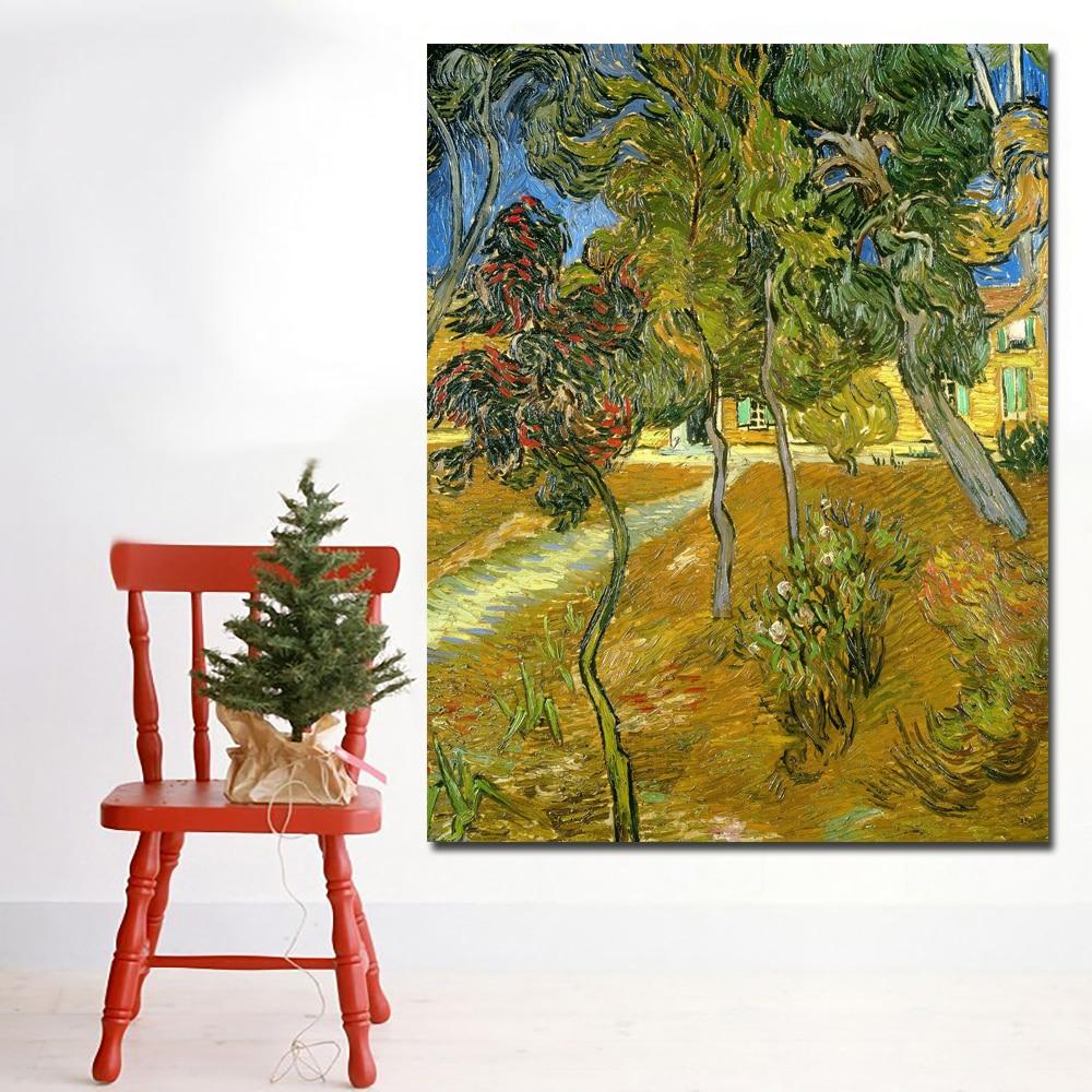 Trees in the Garden of Saint-Paul Hospital-70x90